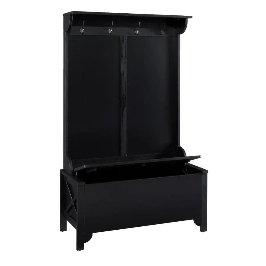 linon anna black 4 hook coat stand