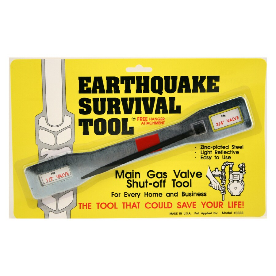 quakehold emergency gas shut off wrench 10 in wrench combo wrench