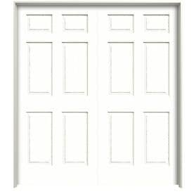 Reliabilt Colonist Textured Primed 6 Panel Hollow Core Molded Composite Double Pre Hung Door