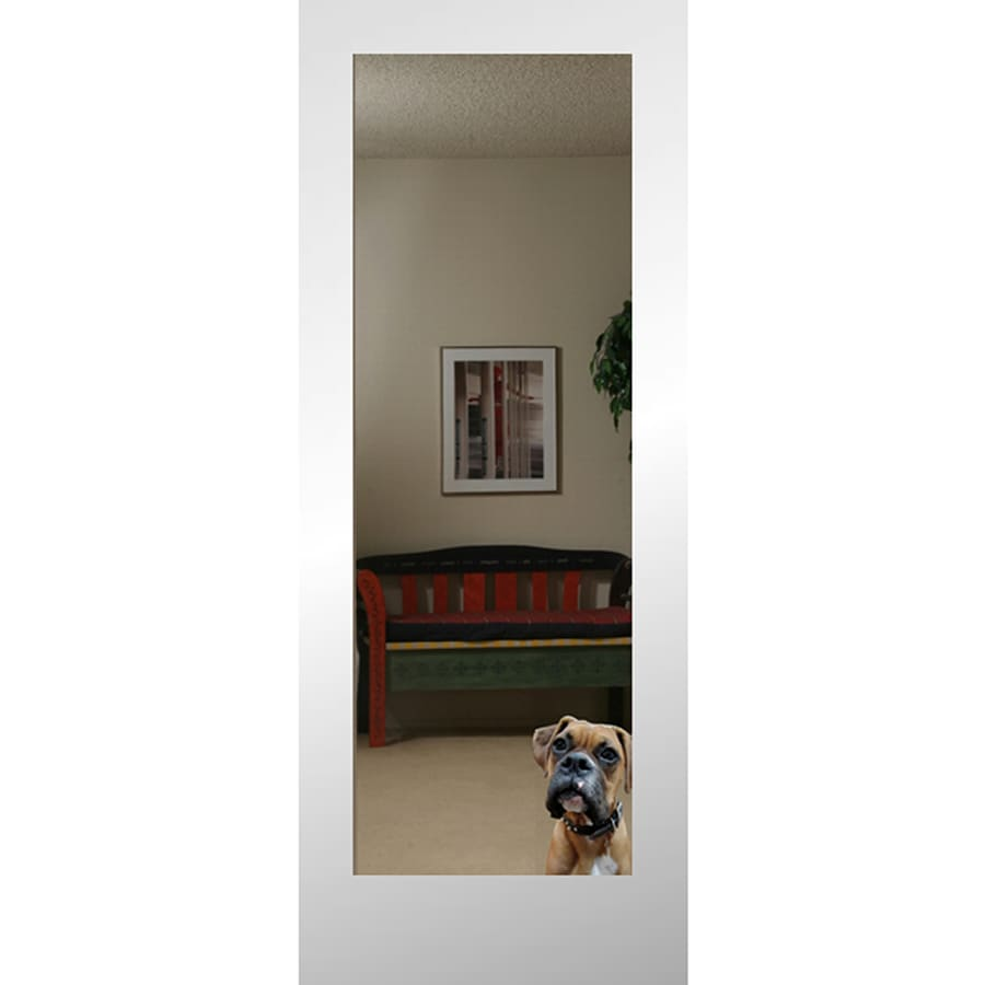 ReliaBilt Reflection White 1 Panel Solid Core Mirrored