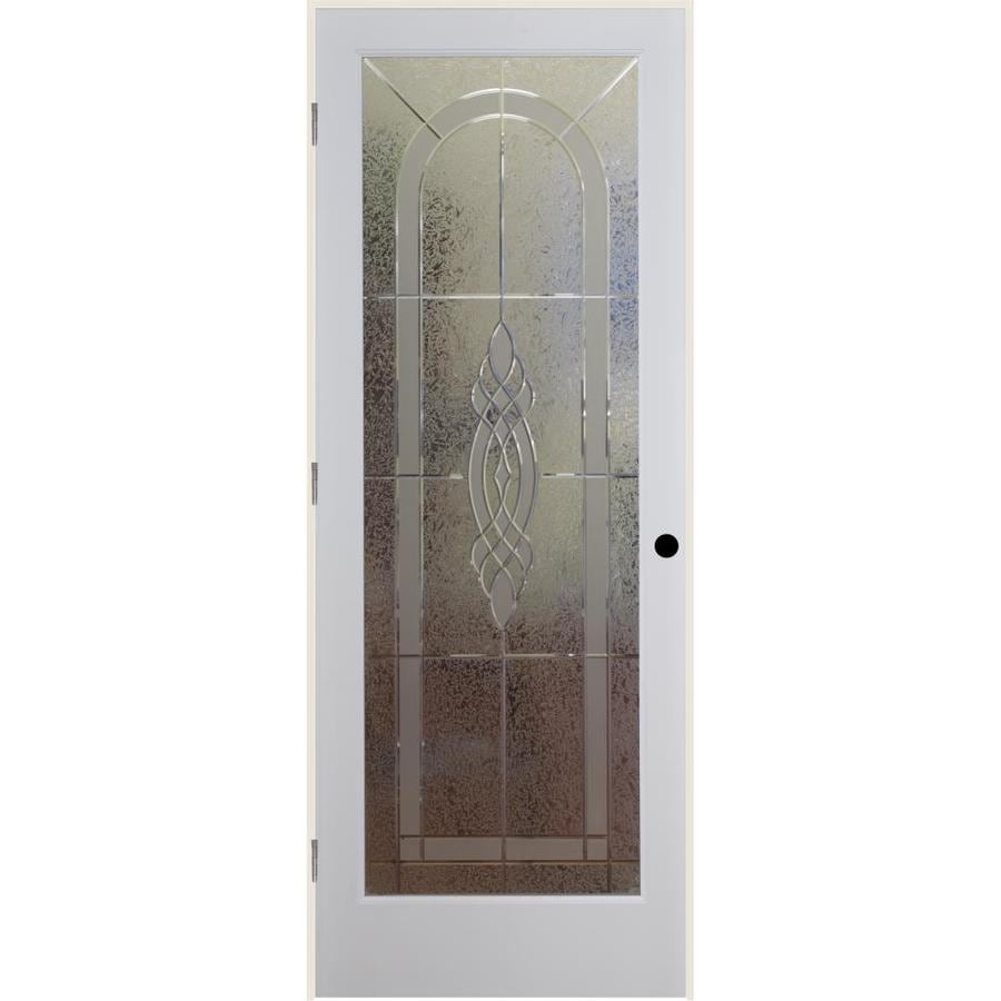 Reliabilt White 1 Panel Solid Core Etched Glass Wood Pine