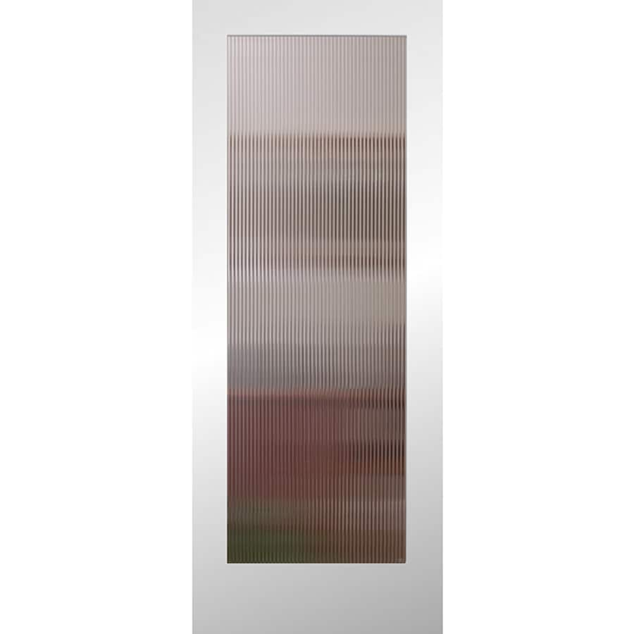 Reliabilt Primed White 1 Panel Solid Core Patterned Glass