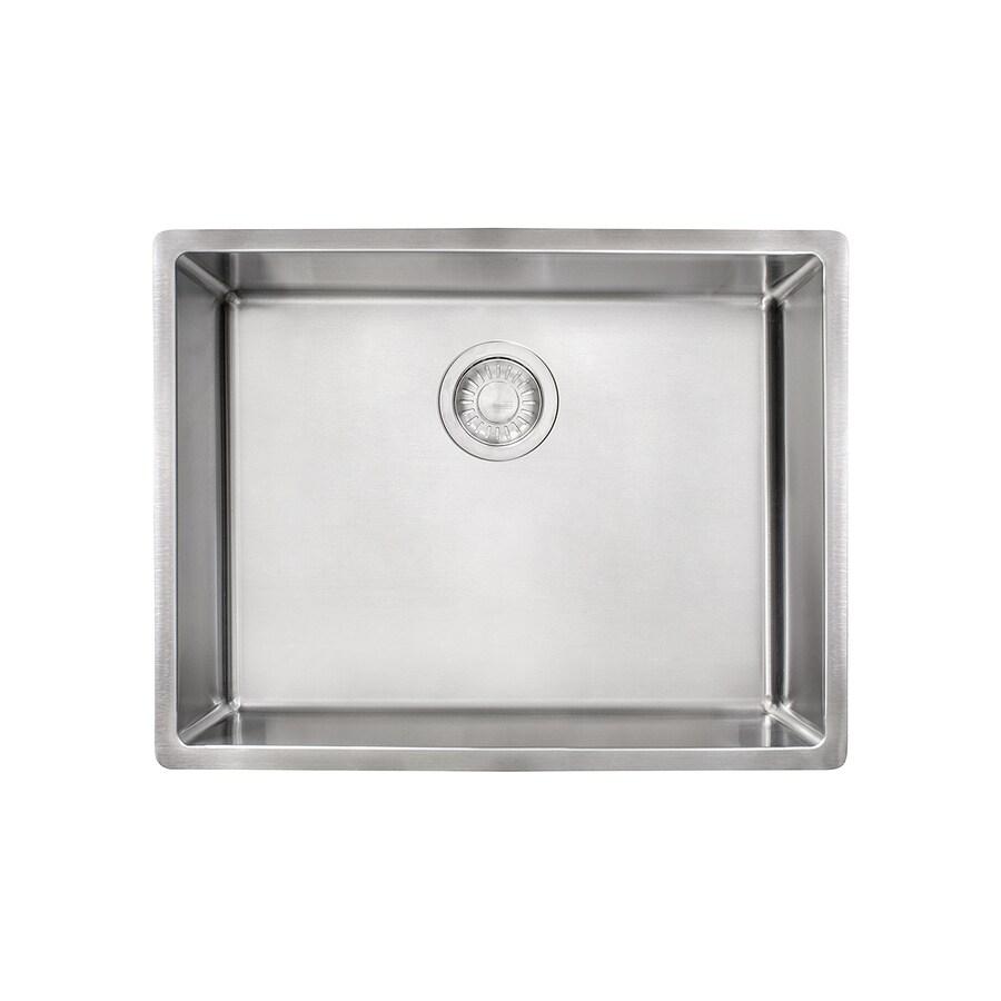 franke cube undermount 22 75 in x 17 75 in stainless steel single bowl kitchen sink