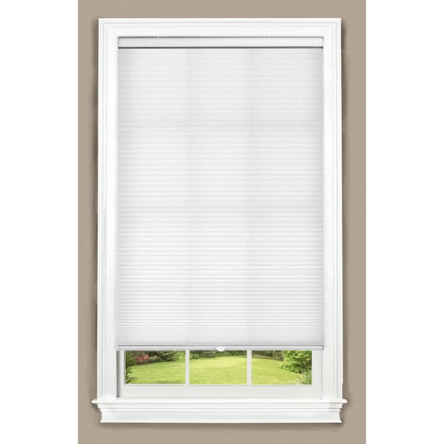 allen roth 27 in x 72 in white light filtering cordless cellular shade