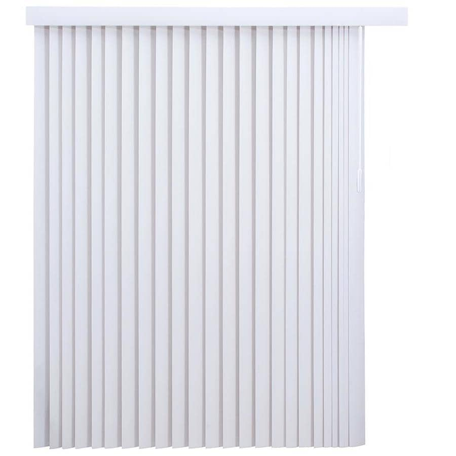 project source 3 5 in slat width 78 in x 84 in cordless white vinyl light filtering vertical blinds