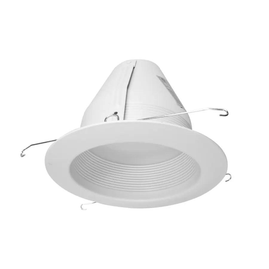 nicor lighting 6 in white baffle recessed light trim