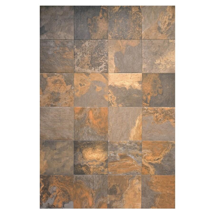interceramic 16 in x 16 in multicolor slate ceramic floor tile
