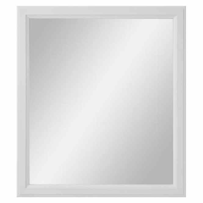 Diamond Freshfit Calhoun 30 In X 34 White Rectangular Framed Bathroom Mirror. bathroom mirrors white   Bathroom