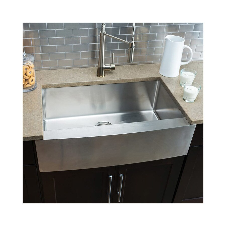 miseno farmhouse apron front 32 875 in x 20 75 in stainless steel single bowl kitchen sink