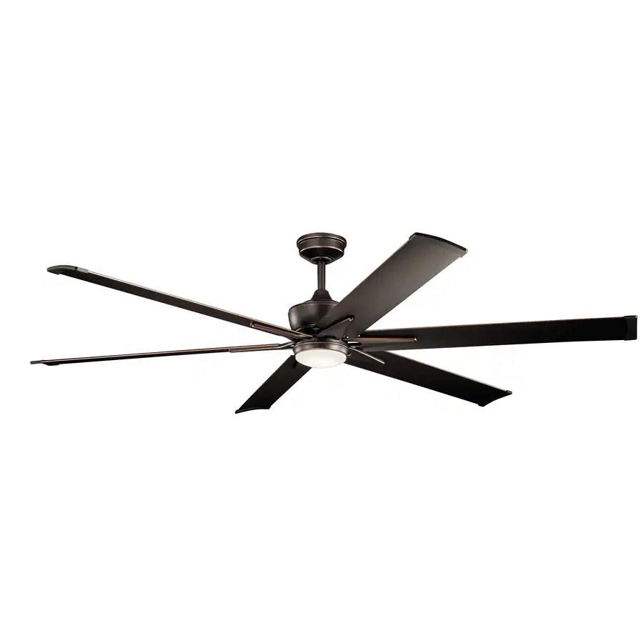 kichler szeplo patio 80 in olde bronze indoor outdoor ceiling fan with light 6 blade