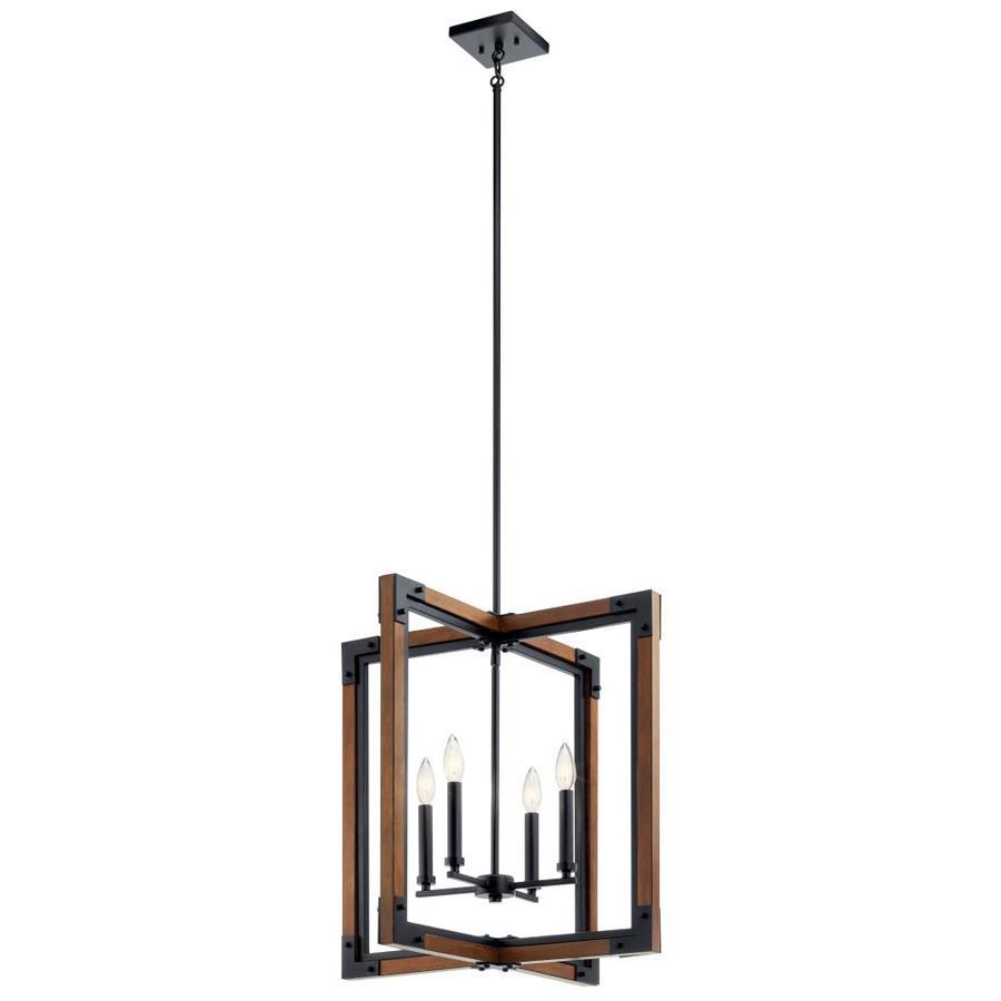 kichler marimount auburn stained rustic geometric pendant light