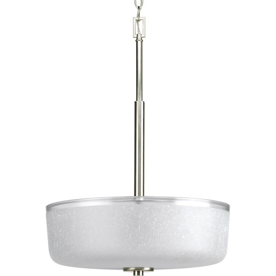 progress lighting alexa 3 light brushed nickel transitional chandelier