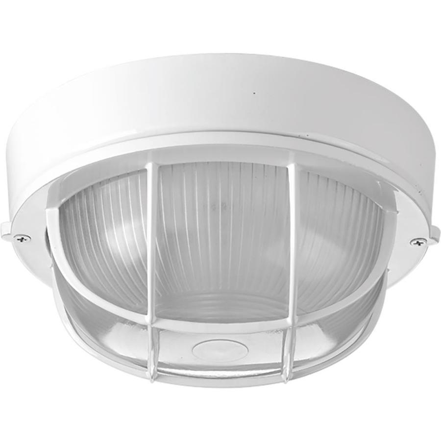 progress lighting bulkheads 7 875 in w white outdoor flush mount light