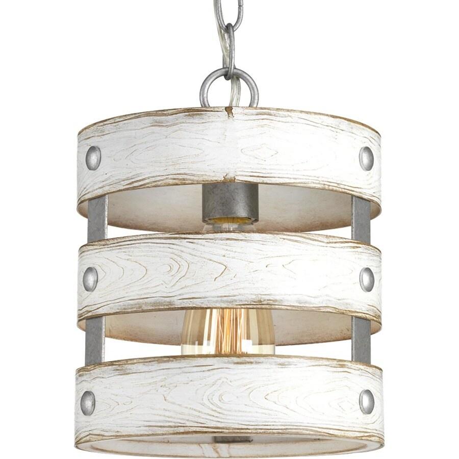 progress lighting gulliver galvanized farmhouse drum mini pendant light