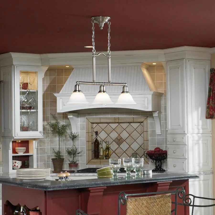 sea gull lighting sussex brushed nickel transitional kitchen island light