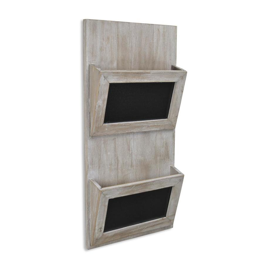 Cheung S Wood Wall Hanging Mail Organizer With Chalkboards