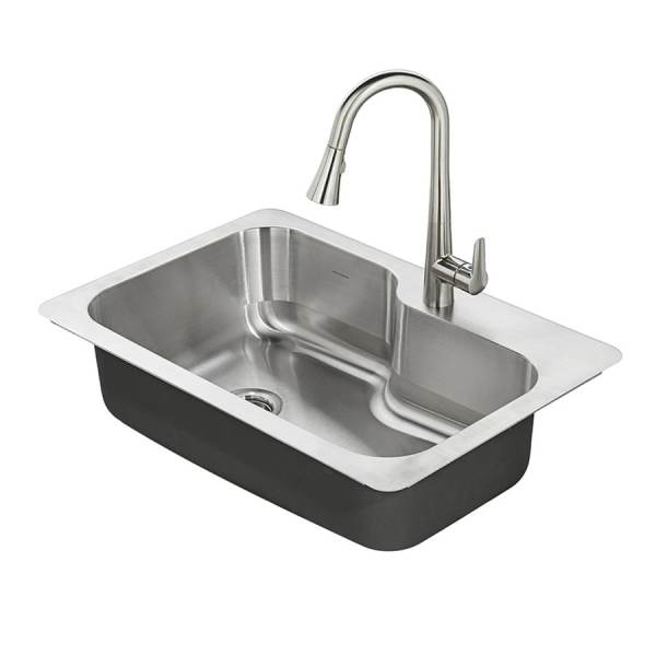 Shop Kitchen Sinks at Lowes com American Standard Raleigh 33 in x 22 in Stainless steel Single Basin  Stainless