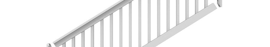 Freedom Lincoln Stair White Pvc Deck Stair Rail Kit With Balusters   Vinyl Stair Railing Lowes   Porch   Baluster   Concrete   Wrought Iron   Wood