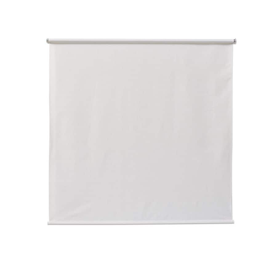 coolaroo simple lift 96 in x 72 in white light filtering cordless outdoorroller shade lowes com