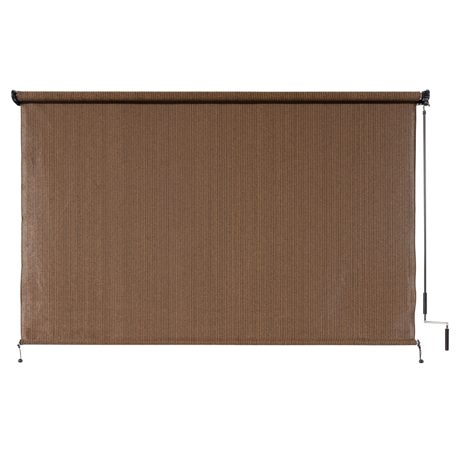 coolaroo outback 120 in x 72 in mocha light filtering cordless outdoorroller shade