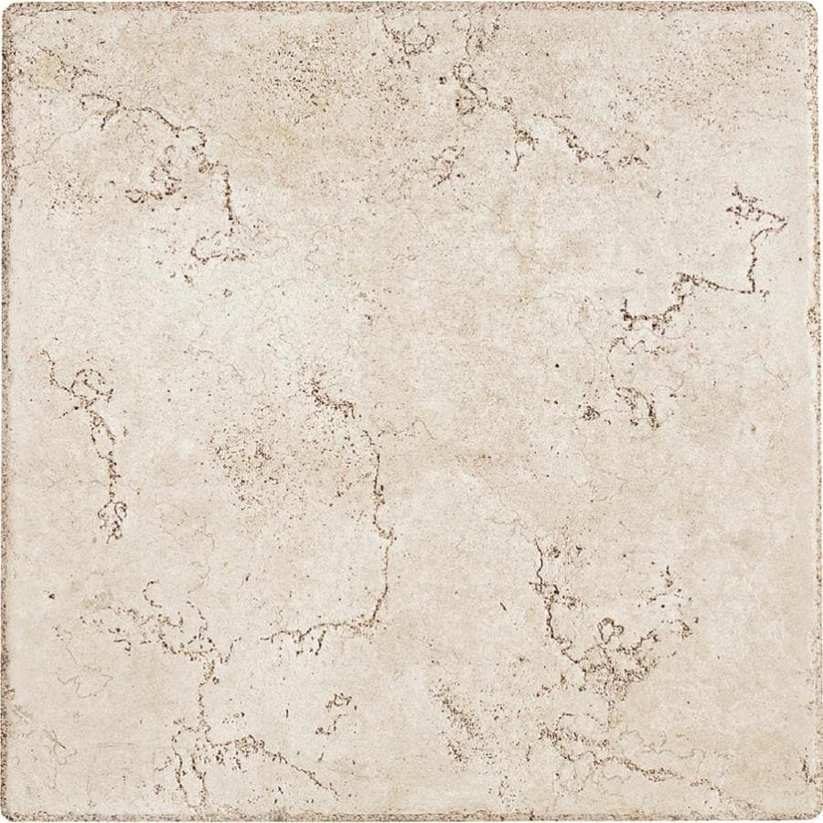 del conca rialto white 12 in x 12 in glazed porcelain floor and wall tile