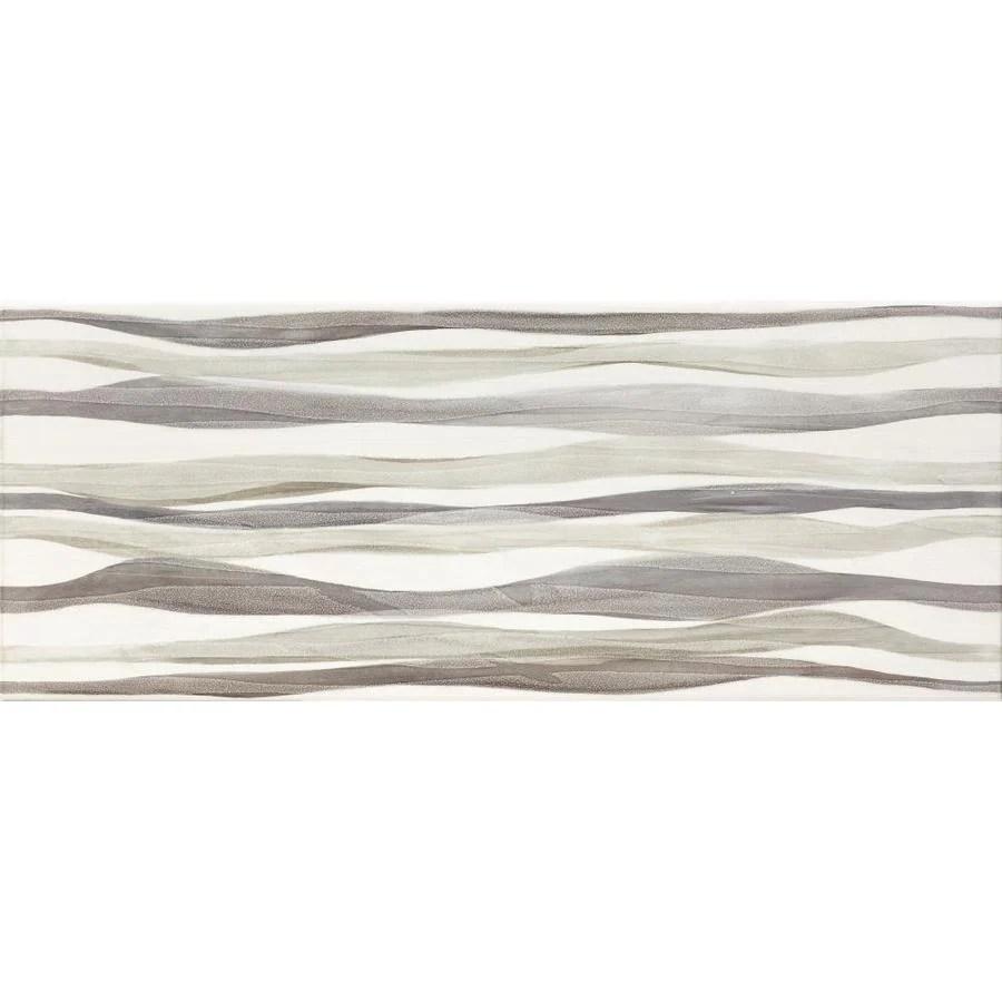 del conca waves multi 8 in x 20 in glazed ceramic encaustic wall tile