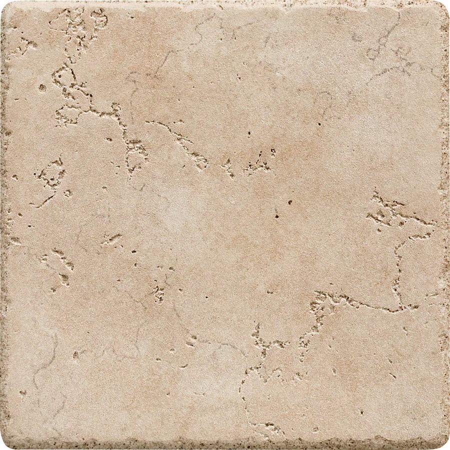 del conca rialto beige 6 in x 6 in glazed porcelain tile