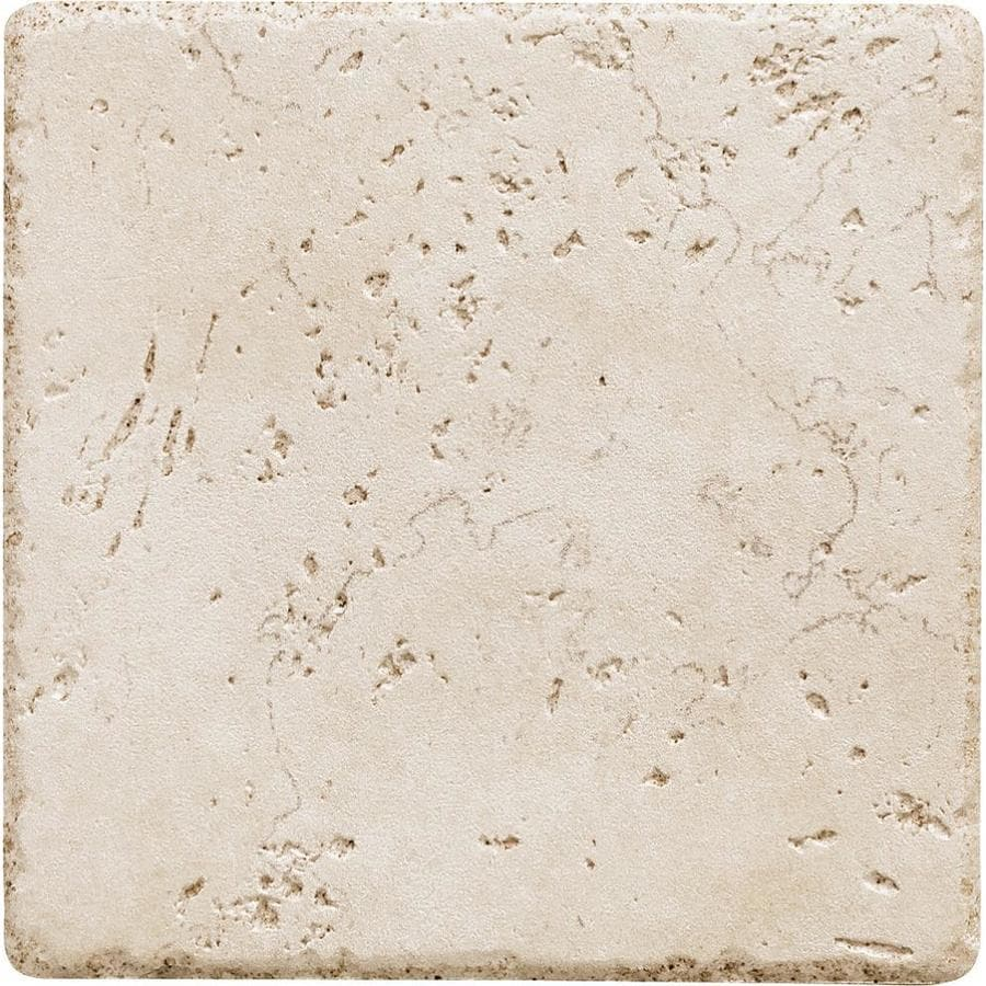 del conca rialto white 6 in x 6 in glazed porcelain floor and wall tile