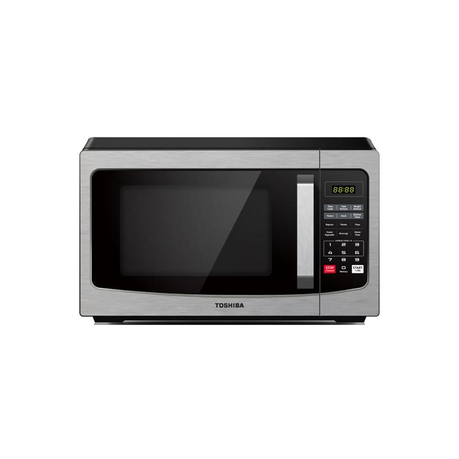 toshiba 1 1 cu ft 1000 watt countertop microwave stainless steel