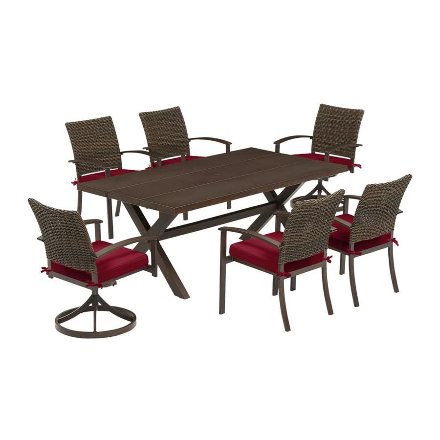 roth atworth 7 piece brown frame patio