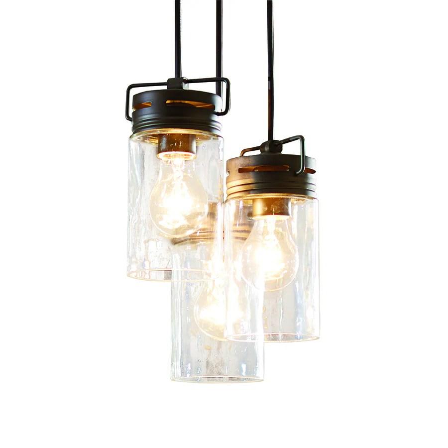 allen roth vallymede aged bronze farmhouse clear glass jar mini pendant light