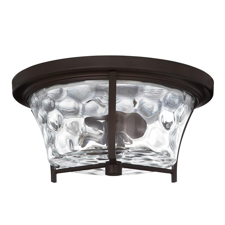 allen roth latchbury 14 02 in aged bronze transitional flush mount light