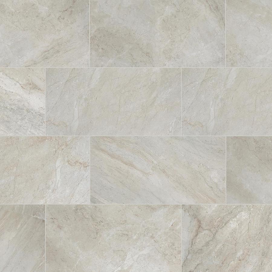 style selections classico taupe 12 in x 24 in glazed porcelain floor tile lowes com