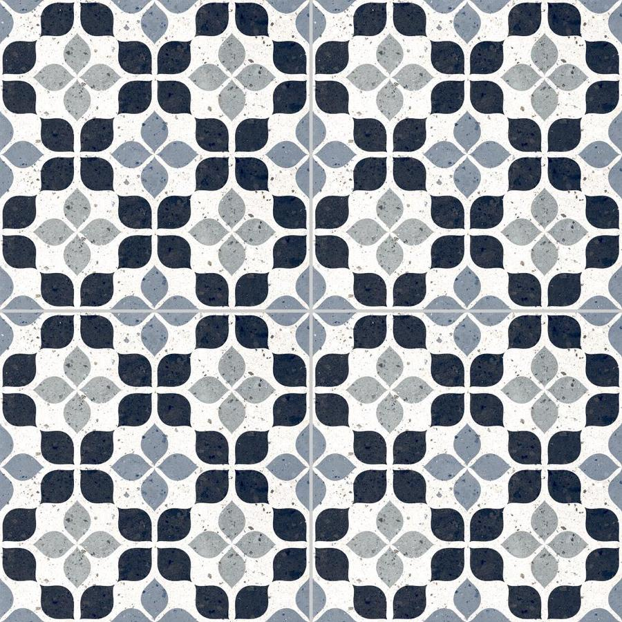 della torre terrazzo gray 8 in x 8 in glazed porcelain encaustic floor and wall tile sample