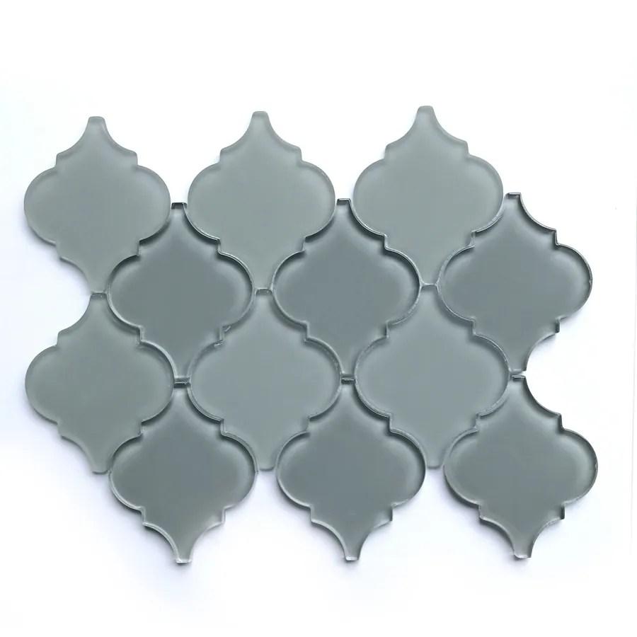 bestview grey 9 in x 12 in multi finish glass lantern wall tile