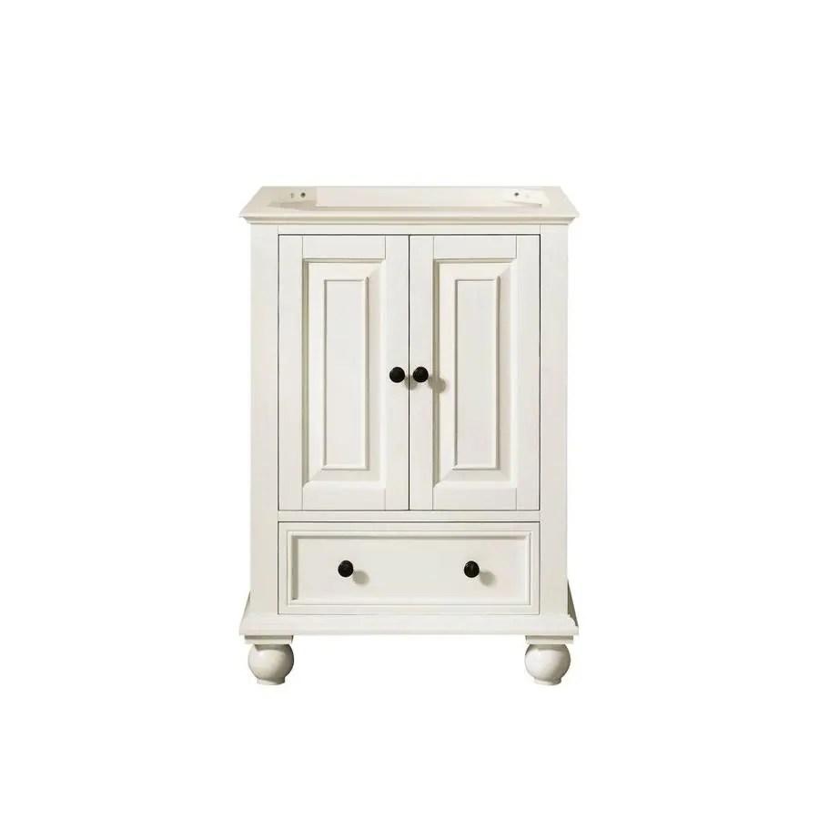 avanity thompson 24 in french white bathroom vanity cabinet