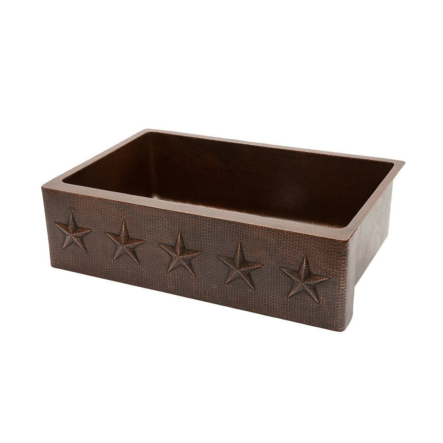 premier copper products farmhouse apron front 33 in x 22 in oil rubbed bronze single bowl kitchen sink
