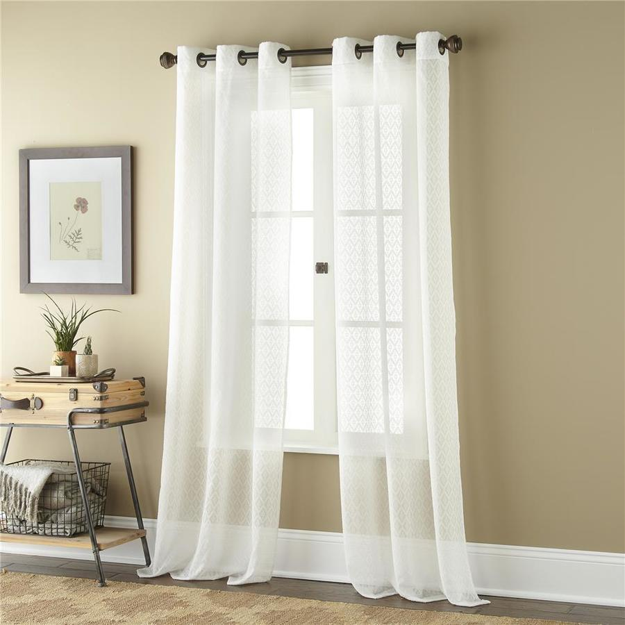 roth 84 in white polyester semi sheer