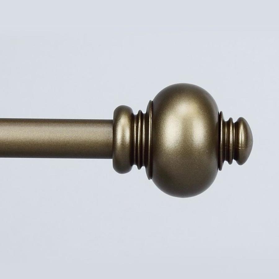 rollos gardinen vorhange 5703 antique gold knob curtain rod 3 size options 28 to120 inch mobel wohnen elite eshop eu
