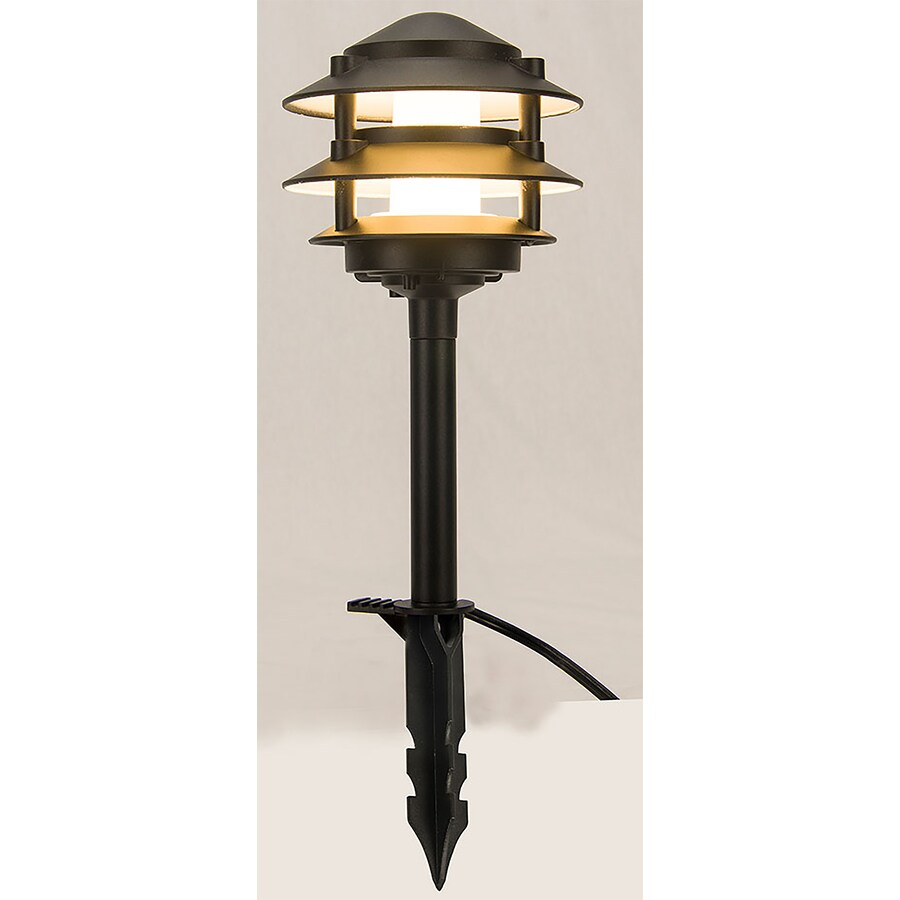 portfolio 5x brighter 6 lumen 3 watt black low voltage hardwired integrated led path light