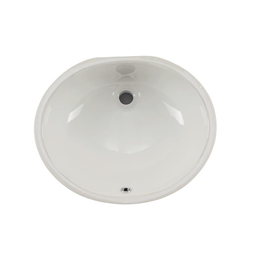 superior sinks biscuit glazed porcelain undermount oval bathroom sink with overflow drain 17 in x 14 in