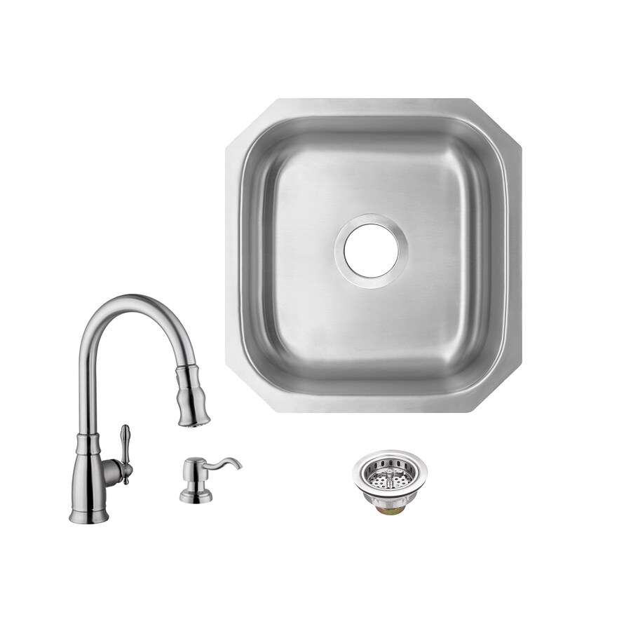 superior sinks 18 in l x 16 in w brushed satin stainless steel undermount residential bar sink