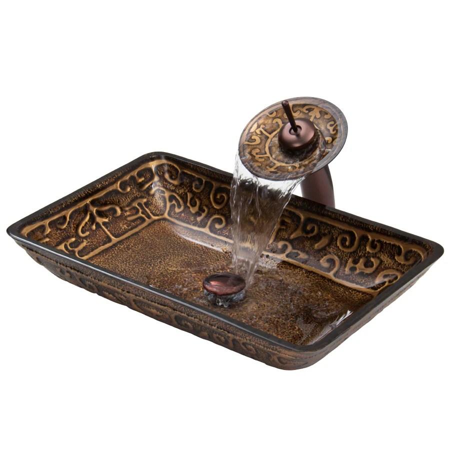 vigo vessel bathroom sets golden greek glass vessel rectangular bathroom sink with faucet drain included