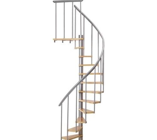 Dolle Calgary 55 In X 9 2 Ft Gray Spiral Staircase Kit At | Dolle Calgary Spiral Staircase