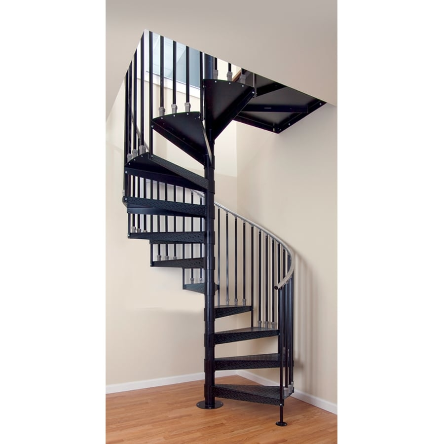 The Iron Shop Elk Grove 48 In X 10 25 Ft Black Spiral Staircase | The Iron Shop Stairs | Elk Grove | Staircase Kits | Spiral Stair Case | Stair Railing | Broomall Pennsylvania