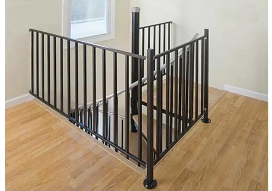 Wrought Iron Stair Railing Kits At Lowes Com | Wrought Iron And Wood Railing | Iron Baluster | Rustic | Split Foyer | Horizontal | Banister