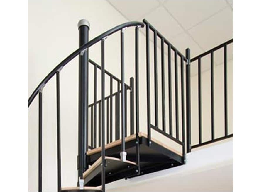 Wrought Iron Stair Railing Kits At Lowes Com   Wrought Iron Stair Handrail   Classic   Wall Mounted   Outdoor   Black And Light Wood   Residential