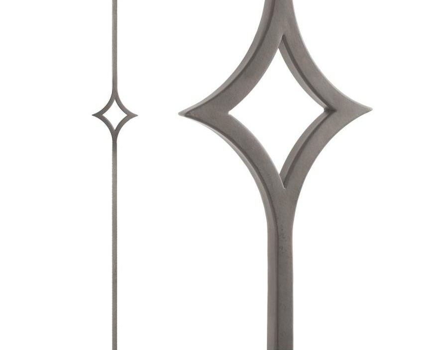 House Of Forgings Aalto 44 In Ash Grey Wrought Iron Classic Stair   House Of Forgings Balusters   Wentworth   Hand Forged   Custom   Versatile Series   Marquise