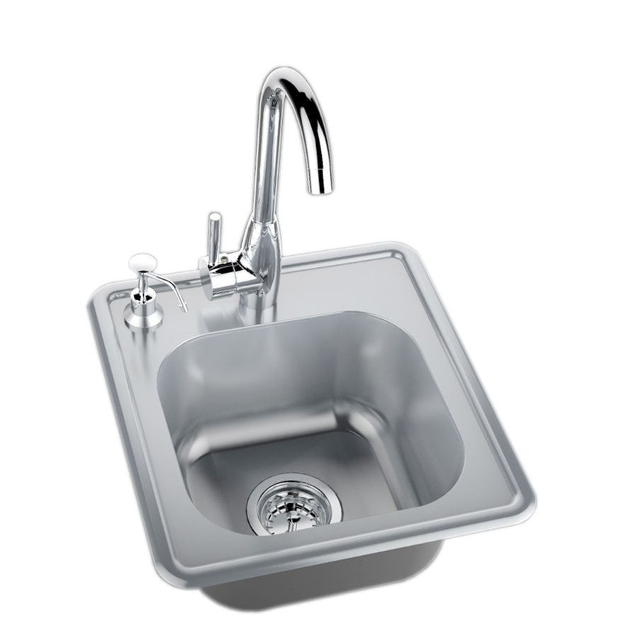 sunstone classic series 17 5 in l x 16 25 in w stainless steel 2 hole stainless steel drop in corner install commercial residential bar sink