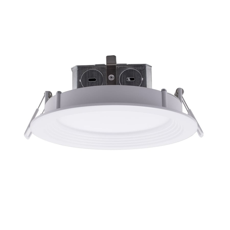 utilitech color changing 6 in 85 watt equivalent white round dimmable recessed downlight